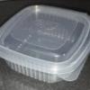 Пищевой контейнер HLC-250 с крышкой 250мл 11х11х4,5см 50шт, РР-для СВЧ, заморозки продуктов