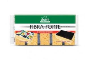 Набор губок DOMI Fibra Forte 5шт, желтые