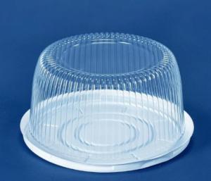 Пищевой контейнер для торта ПС-230+крышка-ПС-230, 0,5кг d=22смх12см, 1шт