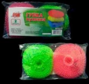 Набор скребков вязанных цветных пластиковых кухонных ПРОФИ 2 шт