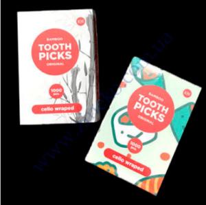 Зубочистки бамбуковые К-Tooth Picks 1000шт, в индивидуальной полиетиленовой упаковке