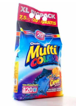 Стиральный порошок автомат CLOVIN MULTICOLOR (7,5+20%)=9кг, без фосфатов