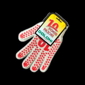 Перчатки DOLONI белые Ювилейные с ПВХ рисунком