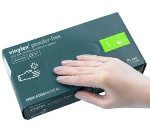 Перчатки медицинские IDEALL VINYL виниловые, S 100шт, без пудры, прозрачные, в боксе