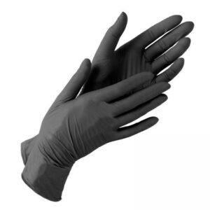 Перчатки медицинские DNGloves нитриловые, S 100шт, без пудры, черные, в боксе