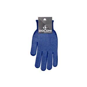 Перчатки DOLONI синие с ПВХ точкой