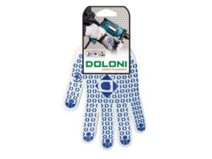 Перчатки DOLONI белые с ПВХ точкой