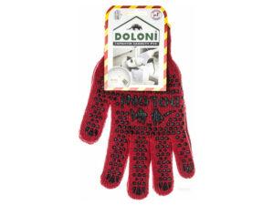Перчатки DOLONI красные с ПВХ точкой