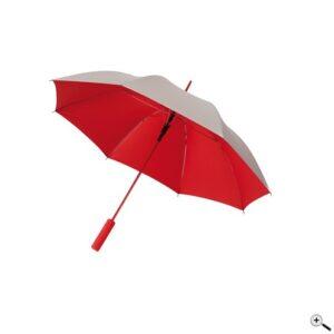 Зонт трость автомат JIVE диаметр 103 см, серебро/красный