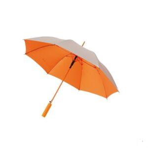 Зонт трость автомат JIVE диаметр 103 см, серебро/оранжевый