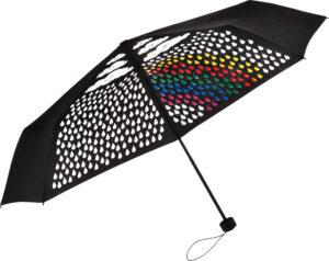 Зонт карманный полуавтомат FARE Colormagic диаметр 98 см, черный