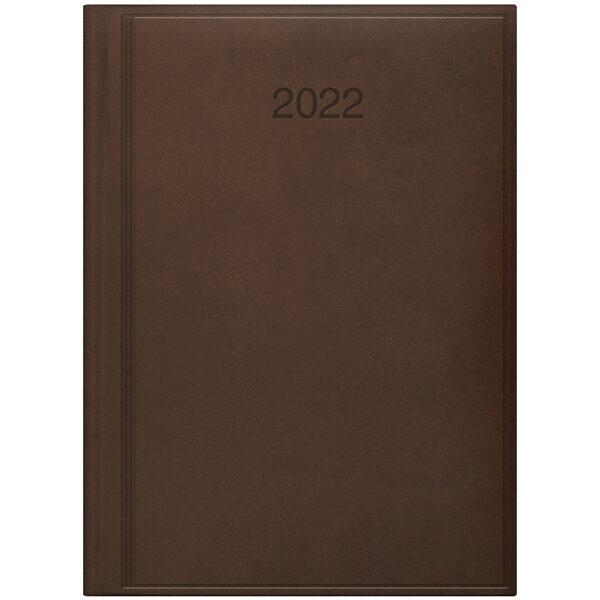 Ежедневник датированный BRUNNEN 2022 СТАНДАРТ TORINO, коричневый