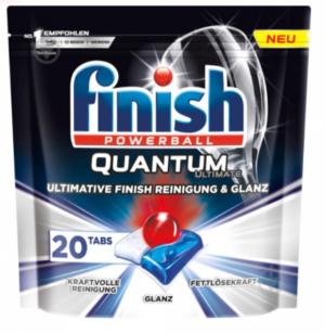 Таблетки FINISH Guantum Poverball Max для посудомоечных машин 20шт
