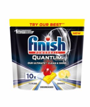 Таблетки FINISH Guantum Ultimate Lemon для посудомоечных машин 10шт