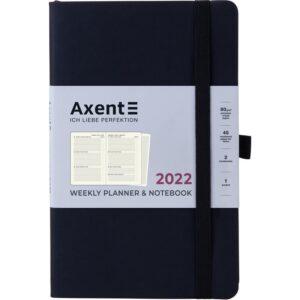 Еженедельник датированный А5, 2022 Axent Partner Soft, мягкая обложка, кремовый блок, черный