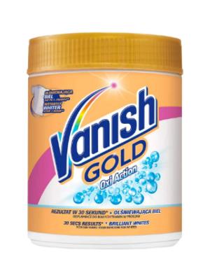 Пятновыводитель порошок для белых тканей VANISH OXI White GOLD 470г