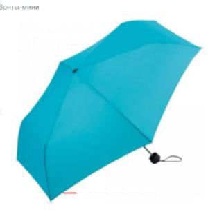Зонт мини неавтомат FARE AluMini-Lite диаметр 90 см, бирюзовый