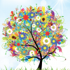 Набор цветной самоклеящейся бумаги А4, 7 цветов, 7 листов