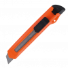 Нож канцелярский 18 мм в пластиковом корпусе
