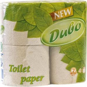 Туалетная бумага ДИВО, 2-х слойная, 150 отрывов, серая, 4 рулона