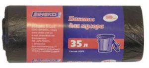 Пакеты для мусора ЗИНЕКО 35л, 30шт, 7мкм, черные