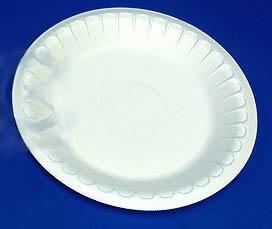 Тарелка пластиковая углубленная,  50шт, белая