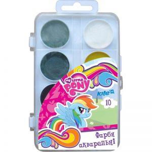 Акварельные краски 10 цветов Little Pony LP17-060, пласт. упаковка