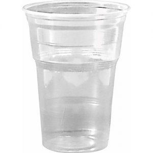 Стакан пластиковый пивной, 500мл, 50шт, прозрачный