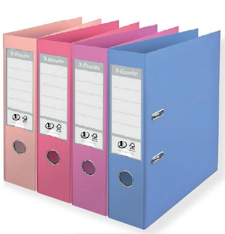 Папка-регистратор А4, 75мм ESSELTE №1 Power Solea нежные цвета