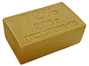 Мыло хозяйственное коричневое 72%, 200г