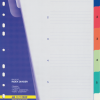 Разделители пластиковые  1-6, формат А4, цветные