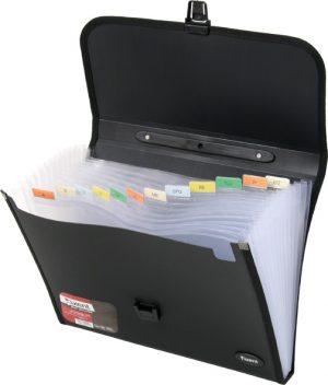Портфель пластиковый А4, 12 отделений, рельефный пластик