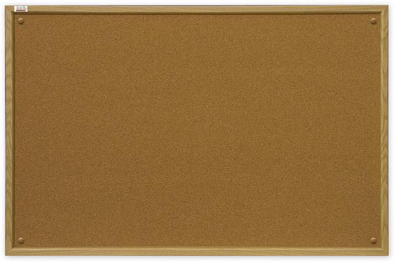 Доска пробковая информационная ТМ 2х3, в деревянной рамке MDF