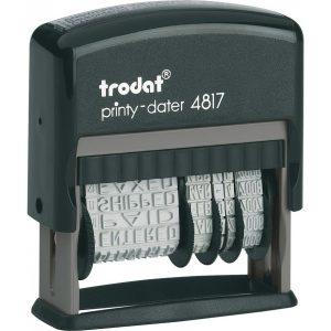 Датер 3,8мм с 12-тью бухгалтерскими терминами Trodat