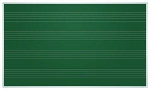 Доска меловая магнитная ТМ 2х3, НОТНЫЙ СТАН (пятилиния)