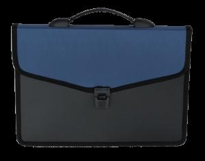 Портфель пластиковый А4+, 3 отделения, двухцветный