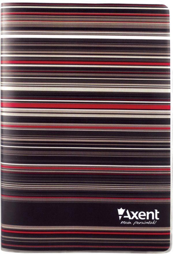 Записная книжка Stripes А5, 80л, мягкая пластиковая обложка, клетка