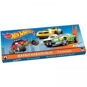 Акварельные краски 12 цветов Hot Wheels HW17-041, картон. упаковка