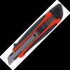 Нож универсальный 18мм в пласт. корпусе с метал. направляющей