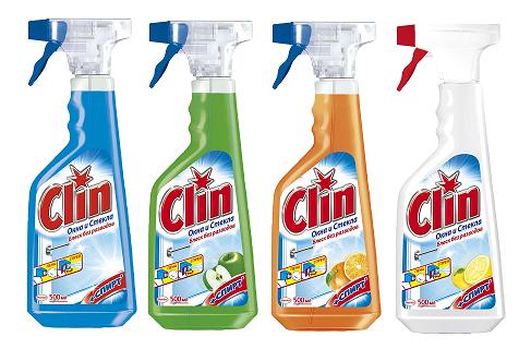 Средство для мытья стекол и зеркал CLIN, 500мл