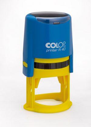 Оснастка для круглой печати D-40мм ТМ Colop сине-желтый корпус
