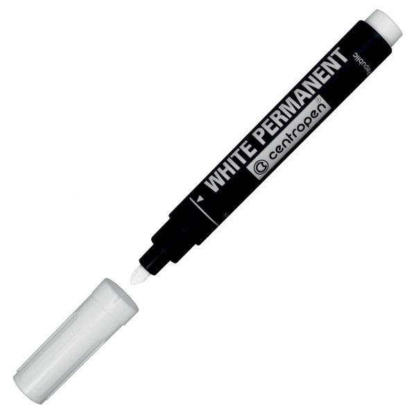 Маркер перманентный White Permanent 8586 белый, 2.5мм