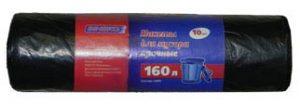 Пакеты для мусора прочные ЗИНЕКО, 160л, 10 шт, 25мкм