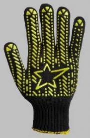 Перчатки вязаные 562, черные, ЛАДОШКА-ЗВЕЗДА , 5 ниток, пара