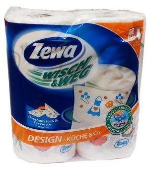 Бумажные полотенца ZEWA Wisch&Weg , 72 отрыва, 2-х слойные, 2рулона