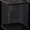 Подставка для ручек, металлическая сетка, квадратная, черная и серебряная