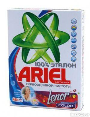 Стиральный порошок ARIEL-автомат, 450г для цветных тканей, в ассортименте