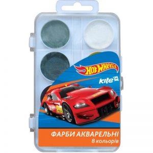 Акварельные краски 8 цветов Hot Wheels HW17-065, пласт. упаковка