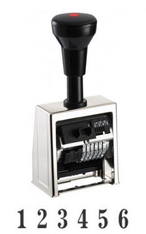 Нумератор автоматический 6 разрядов, 5,5мм, металл