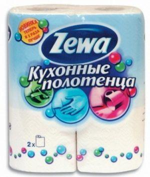 Бумажные полотенца ZEWA кухонные, 2рул.
